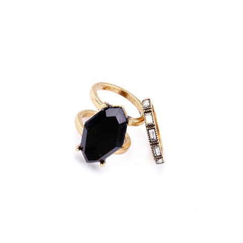 NEU BLACK BEAUTY 2 RINGS SET - SWANL