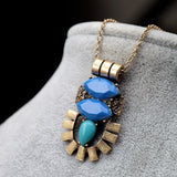INDIO STATEMENT BIJOUX VINTAGE NECKLACE - SWANL
