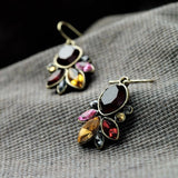 CLEVICLE MAUVE DROP DANGLER EARRINGS - SWANL