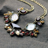 SHOUROUK RHINESTONE STATEMENT NECKLACE PENDANT - SWANL
