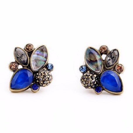 BEE MULTI COLOR STUD EARRINGS - SWANL