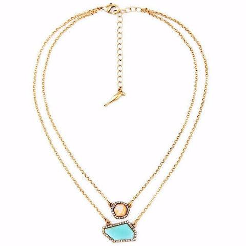 DIVNITY IRREGULAR LAYER PENDANT NECKLACE - SWANL
