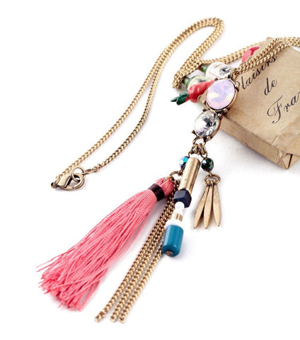 ETHNIC TIDE TASSEL PENDANT BOHO NECKLACE - SWANL
