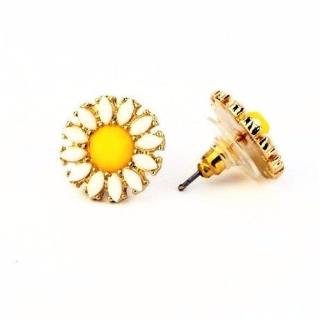 BLOSSOM FLOWERS STUD EARRINGS - SWANL