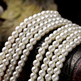 MULTILAYER BEADS SIMULATED PEARLS NECKLACE - SWANL