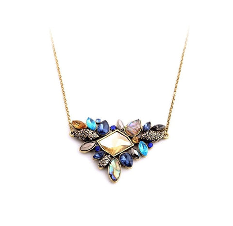 ELEMENTS RHINESTONE INNOVATION PENDANT NECKLACE - SWANL