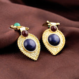 LUXURY NAVI DROPS 18K GOLD PLATED EARRINGS - SWANL
