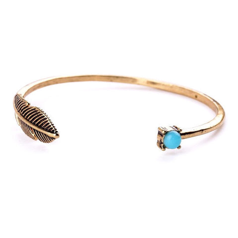 SOFT LEAF BANGLE BRACELET - SWANL