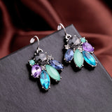 SPARKY BALLERINA MULTICOLOR FLOWER EARRINGS - SWANL