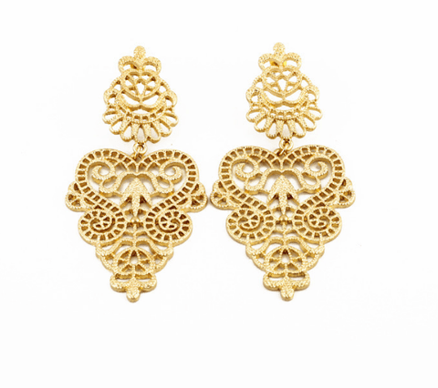 HOLLOWAY 18 K GOLD DROP EARRINGS - SWANL