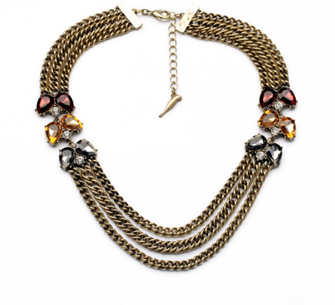 STIMULATED QUEEN COLARES FEMINOES BIJOUX NECKLACE - SWANL