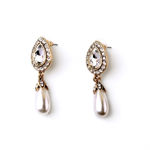 QUEEN OF PEARLS DROP EARRINGS - SWANL