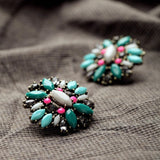 PANDORA PLANT STUD EARRINGS - SWANL