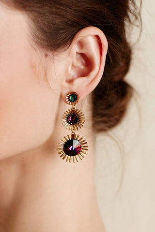 CLUBSEX RETRO MULTICOLOR STATEMENT EARRINGS