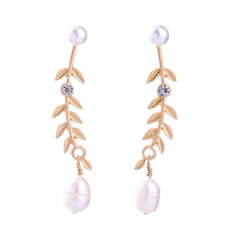 Cocoon Pearl Drop Earrings | SWANL