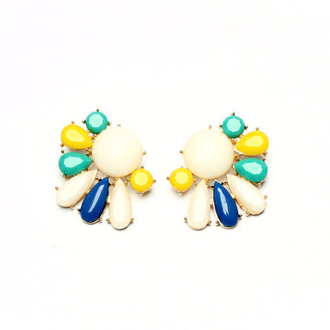 Plant Kingdom Multi color Stud Earrings