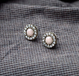 ROUNDLER CRYSTAL STUD EARRINGS | SWANL