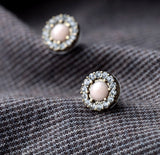 ROUNDLER CRYSTAL STUD EARRINGS - SWANL