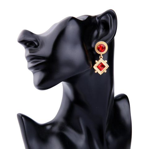 Emerish Red Drop Earring