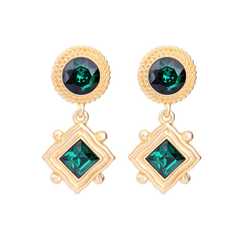 Emerish Green Drop Earring