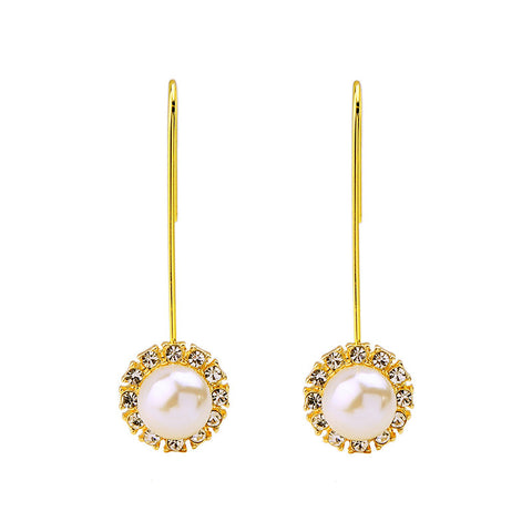 Lighters Gold Pearl Drop Earrings | SWANL