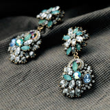 MAGNIFCO CRYSTAL STUDDED STATEMENT EARRING | SWANL