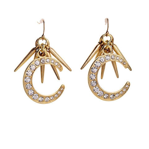 Moon Spark Crystal Statement Earring