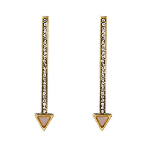 Crystallized Arrow Drop Earring | SWANL