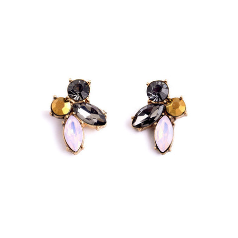 SHORTY CRYSTAL STUD EARRINGS - SWANL
