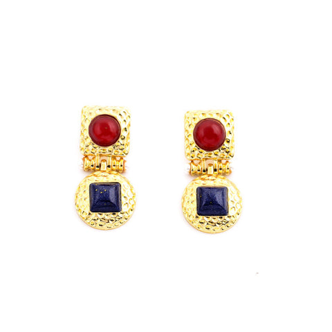 ROUDLIE GOLD DROP EARRINGS | SWANL