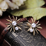 TWIN ROYAL PEARL STUD EARRINGS | SWANL