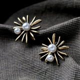 TWIN ROYAL PEARL STUD EARRINGS - SWANL