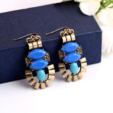 BLUE POP PIERCED EARRINGS - SWANL