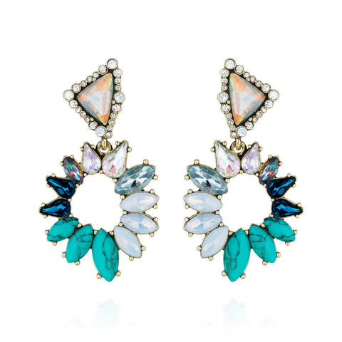 TROPIC BLUSH STATEMENT EARRINGS - SWANL