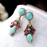 TURQUOISE SLUSH STATEMENT EARRINGS | SWANL