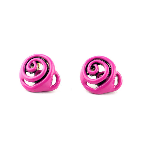 Spiraltina Pink Stud Earrings