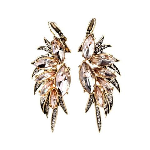 CRYSTAL SWAN DROP EARRINGS - SWANL