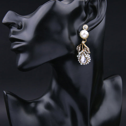 Desert Rain Gold Drop Earrings | SWANL