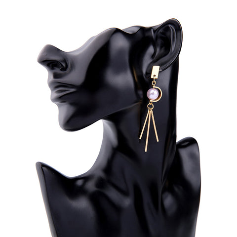 Pink Pearlie Statement Earring