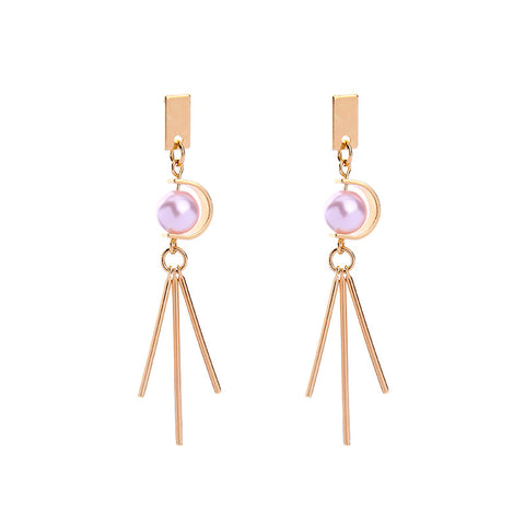 Crystalpink Statement Earring