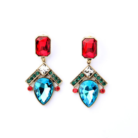 Inter Spatial Multicolor Statement Earring | SWANL
