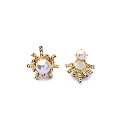 Asymmetric Pearl Jeena Studs Earrings