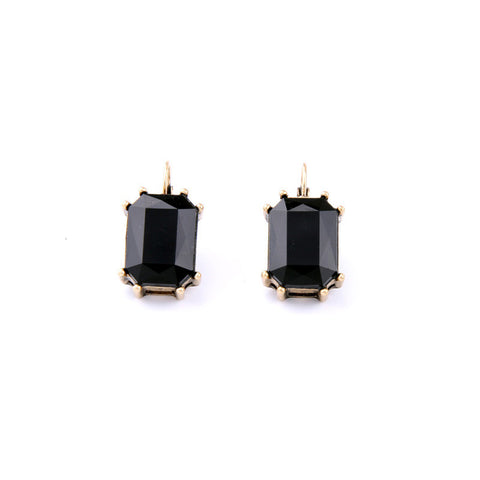 TESSY BLACK STUD EARRINGS - SWANL