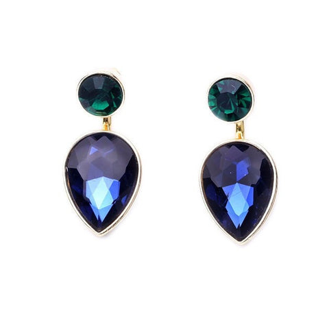 MARINA WATER SAPPHIRE DROP EARRINGS - SWANL