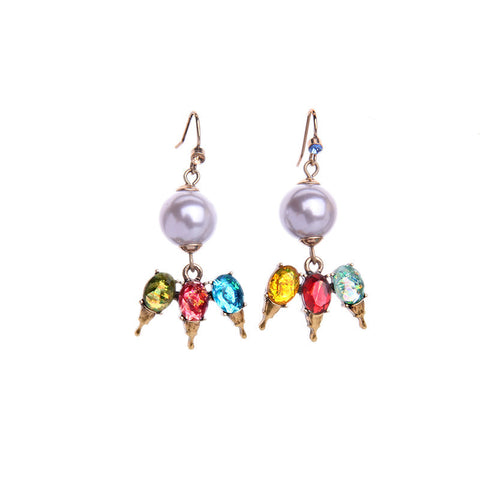 Pearl Colorish Drop Earring | SWANL