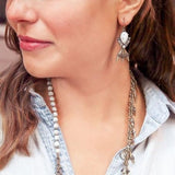 MARBLE FLARE STATEMENT EARRINGS - SWANL