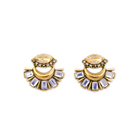 ANTIQUE ROYAL GOLD PLATED STUDS EARRINGS
