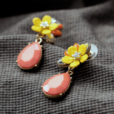 GRACEFUL PINK WATER DROP EARRINGS - SWANL