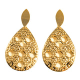 GOLDSNOW DROP STATEMENT EARRINGS - SWANL