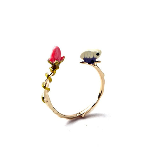 DUTCH DREAM ASSYMETRIC ADJUSTABLE RING - SWANL